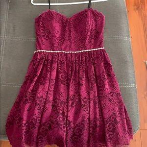 Short, deep purple dress